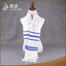 Longda High quality soft woven embroidery prayer shawl tallit wholesale