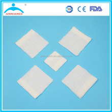 100% cotton absorbent medical sterile gauze piece