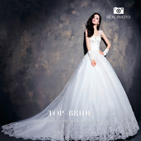 S619 Latest Style High Quality Heavy Beaded Ball Gown Wedding Dress