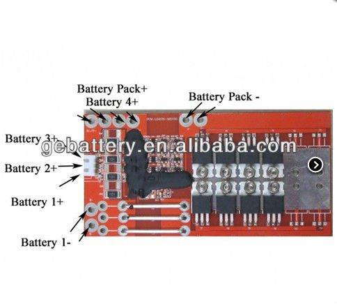 4S LiFePO4 BMS for 4 cells in series/ lifepo4 12v bms