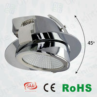 5 years Chrome adjustable CE SAA 18w gimbal 16w led dowblight 17cm cutout downlight 13w scoop 165mm hole size