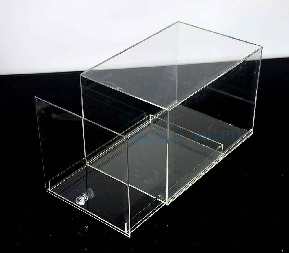 Acrylic Shoe Boxes : Acrylic shoe box view giant niten product