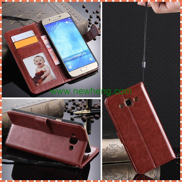 For Samsung Galxy A8 Photo Frame Wallet Stand Flip Leather Case