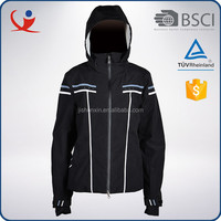 2015 Fashion winter china cheap breathable black nylon ski jacket for women