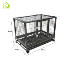 Airline Square Tube Metal Dog Cage With Wheels