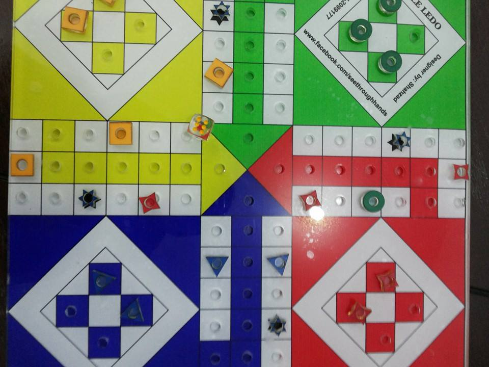 ludo in tactile for blind and sighted players