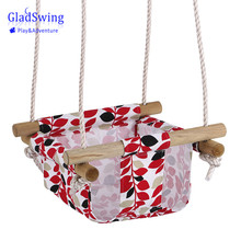GladSwing SW133 Baby Canvas Wooden Swing