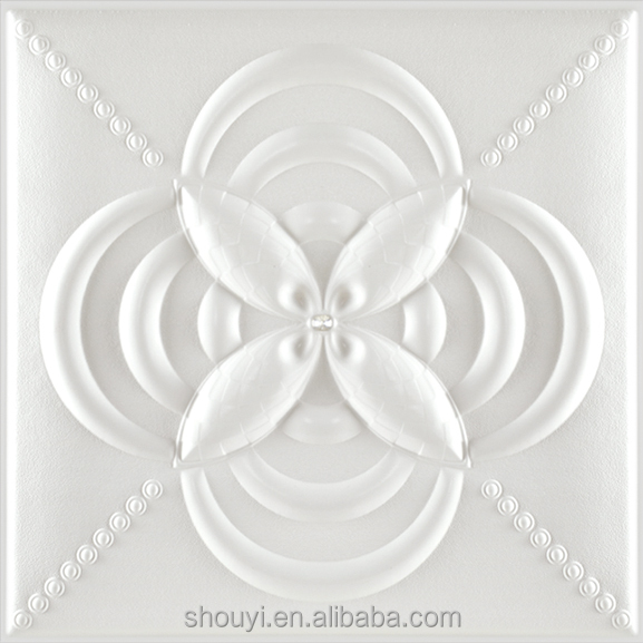 3d resin decorative relief wall painting/translucent resin panel/leather look tile