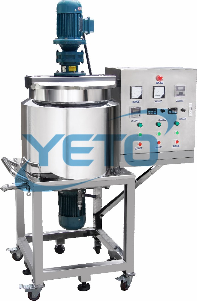 removable stainless steel shampoo mixing equipment,Liquid Detergent blending Tank,liquid soap making machine