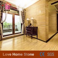Wood Travertine Marble Tile Floor