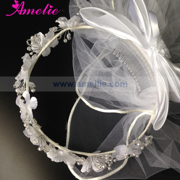 Handmade Floral Crown For Girl First Communion Veils