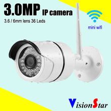 VisionStar security wireless ip camera bullet high definition 3.0mp cctv outdoor cmos weatherproof hd surveillance system