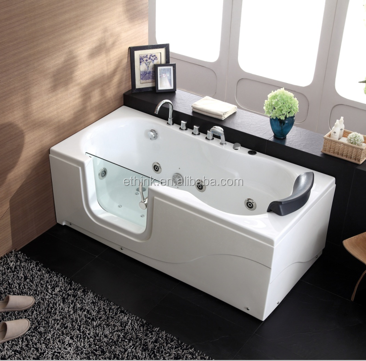 European style low safe bath with door