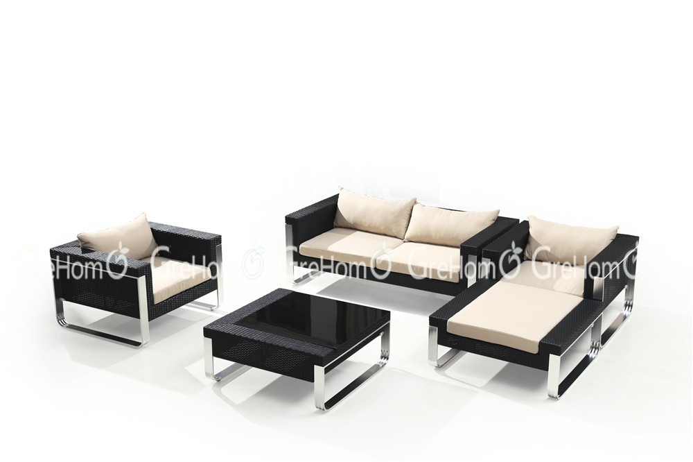 new model outdoor luxury rattan terrace sofa set furniture