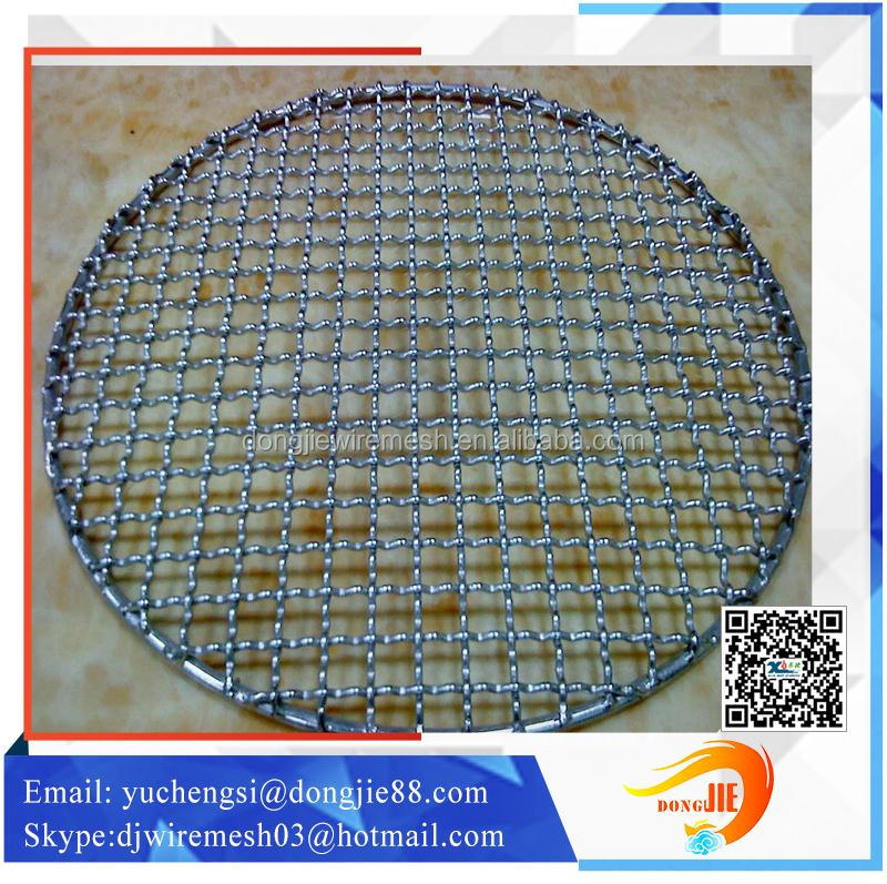 round shape food barbecue grill mesh /metal barbecue grill mesh /best offer for barbecue grill mesh