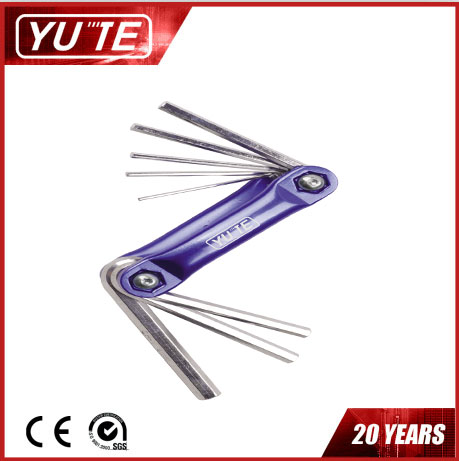 2017 Yute 8PCS curve universal hex key set with blue color