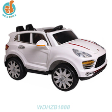 WDHZB1888 Hot Selling Children Electric Toy Car For Girls Wheel Light, With Music And Light, Double Door Open, Rocking Optional