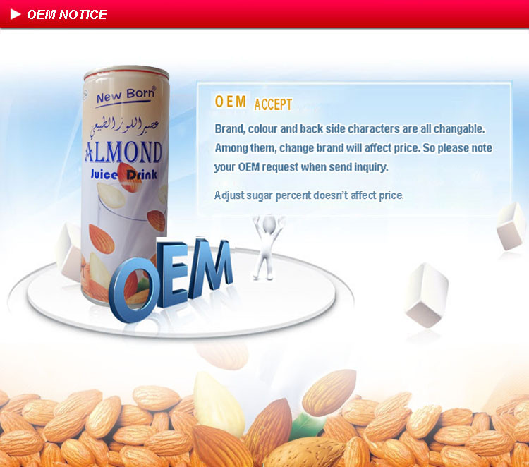 Halal almond juice breakfast warm drink new choice