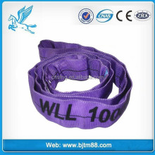 lifting strap soft color code, wll 1ton 5m lifting round sling