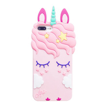 SIKAI OEM High Quality Low Price 3D cartoon silicone phone case For IPhone Max Unicorn Phone Case For iPhone Case Phone Cover