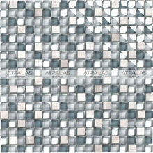 hot sale in Swedish market blue glass mosaic for swimming pool tile