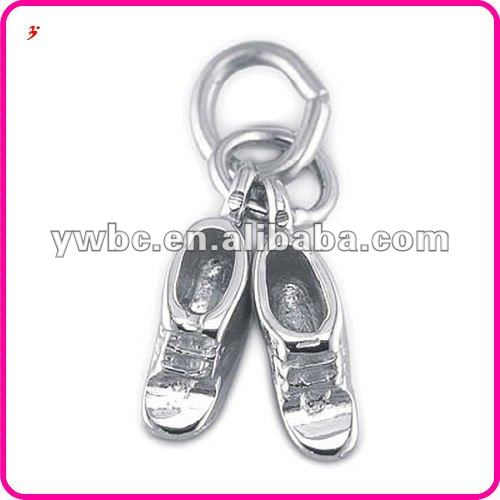Small lovely sterling silver baby shoe flip shop charm