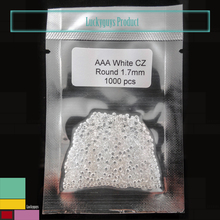 Wholesale a large number of inventory AAA quality white 1.7mm round cz