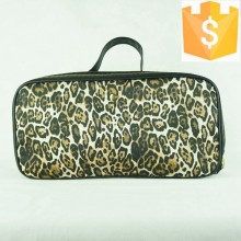 2015 new arrival nylon leopard printing fashion ladies travel bra bag Guanzghou factory