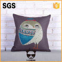 manufacturer wholesale popular custom photo printed cotton square cushion