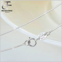 925 Sterling Silver Snake Chain Italian Crafted Necklace Thin Lightweight Strong with spring ring Clasp