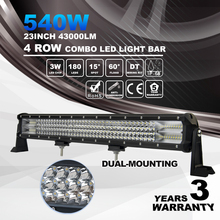 Best selling 540w 43000lm 4 Row Straight 23inch Led Light Bar 2017