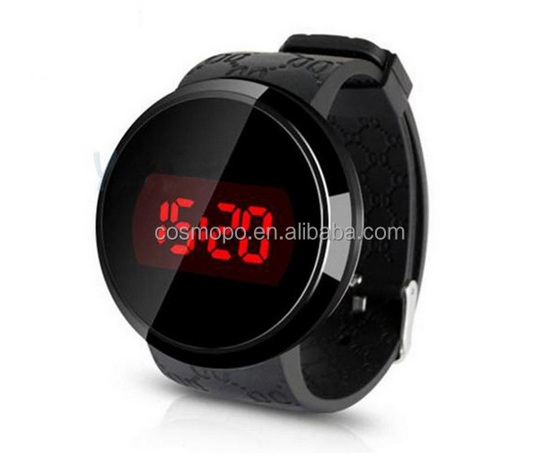 Hot Men's LED Touch Screen Digital Wristwatch Silicone Waterproof Date Clock Watches Men Casual Sports Watch