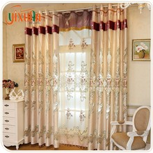 Wholesale 100%polyester embroidery ready made fancy window curtain for room