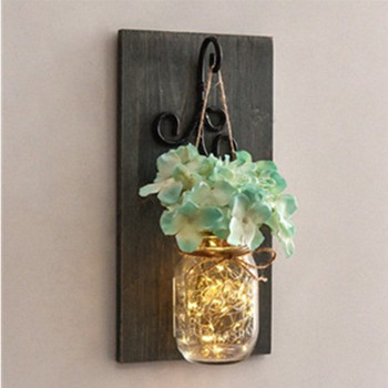 Romantic Flowers Lighting Wooden Hanging Wall Couple Birthday Party Decoration Wedding Room Jewelry
