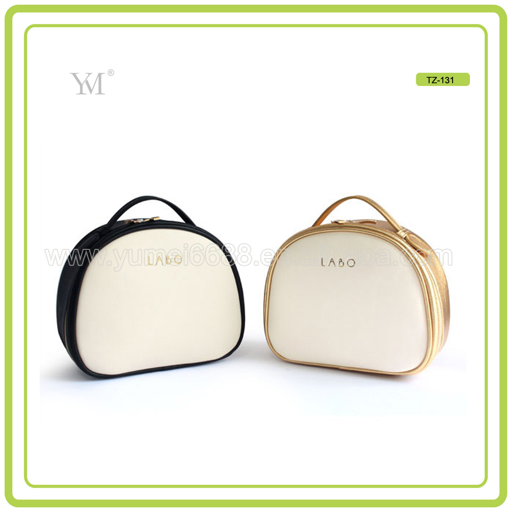 High capacity Leather Handle Travel Cosmetic Bag with competitive price