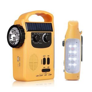 Solar Powered Wind Up Rechargeable Radio LED Flashlight Torch Light AM/FM Weat solar dynamo radio emergency lantern