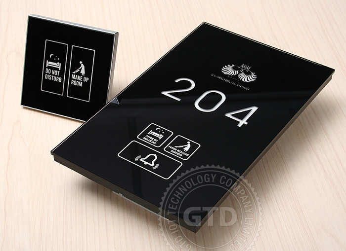 Luxury Hotel Door Plate and House Number, Touch Panel, LED Backlit