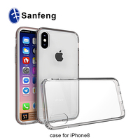 2017 new arrival clear soft tpu case for iphone 8 7, oem low moq mobile case for iphone 8