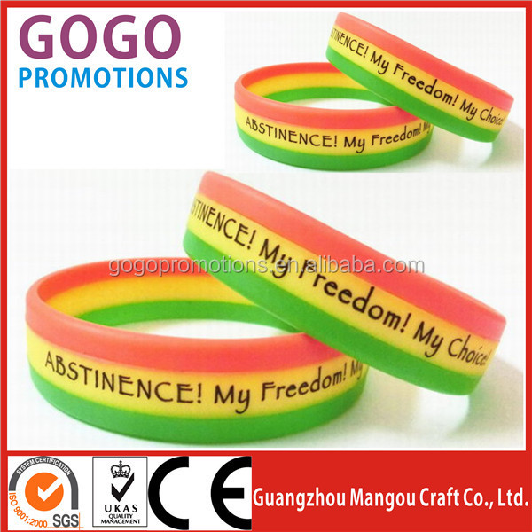 Chinese wholesale cheap silicone bracelet OEM Customized,Personalized High Quality Printed Silicon Bracelet For Promotional Gift