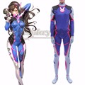 D.Va Costume Lycra Spandex DVA Cosplay Zentai Catsuit Halloween Female Adult Women Bodysuit