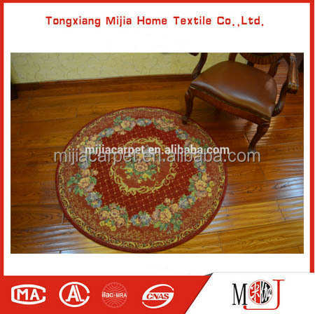 Machine-made Washable,Antiskid Double Chenille Yarn Jacquard Circular floor carpet/Rug/ Mat M-19