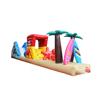 inflatable beach floating water obstacle course for sale