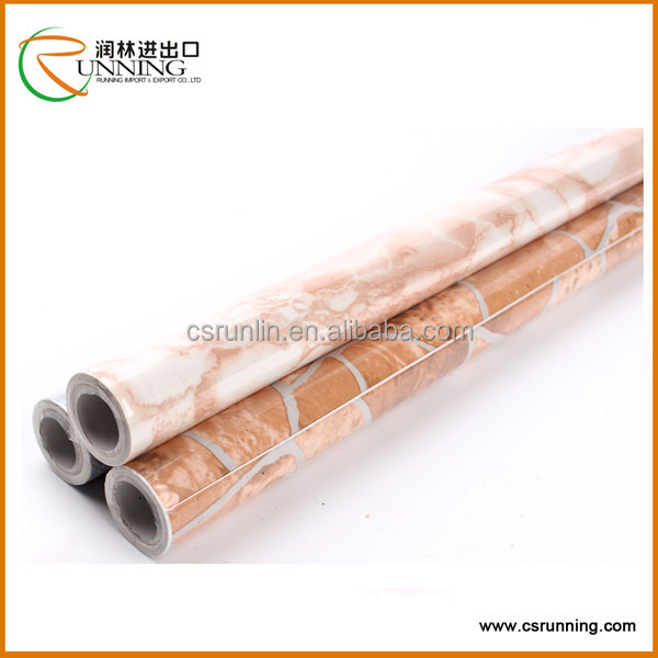 China flower/wooden/marble Self Adhesive Plastic Film