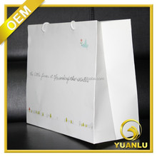 custom made white kraft paper handbag for garment
