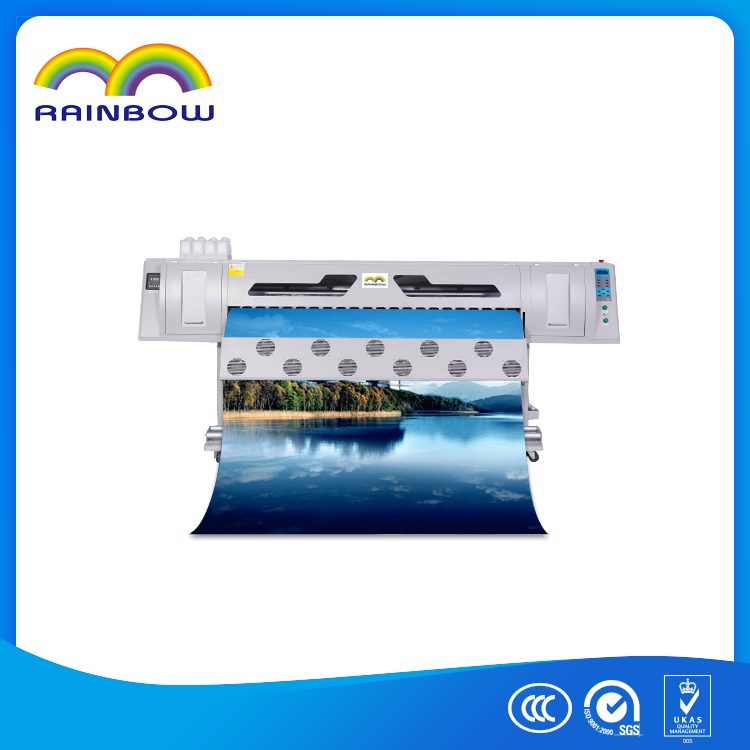 Cheap 1.8m outdoor digital flex banner printing machine price ,dx7 printhead eco solvent printer
