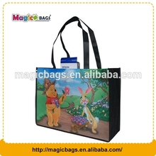 Full color sublimation printing cheap wholesale standard size ladies fancy non woven fabric shopping bag