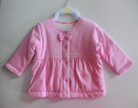 Comfortable and breathable 100% cotton baby jacket