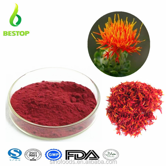 Hong hua nayural Free Sample 10:1 Flo Carthami / Carthamu Safflower Extract