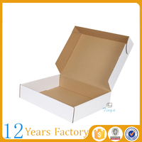 simple white corrugated carton box for shipping