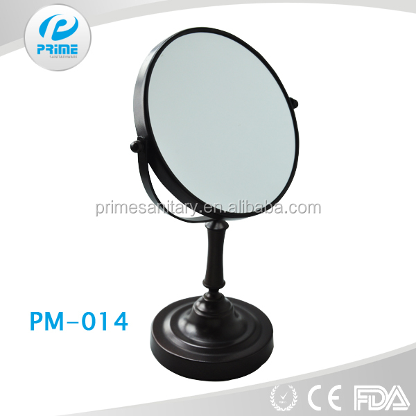 Classical style black color eco friendly makeup mirror